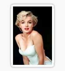 MARILYN MONROE: In White Print Sticker