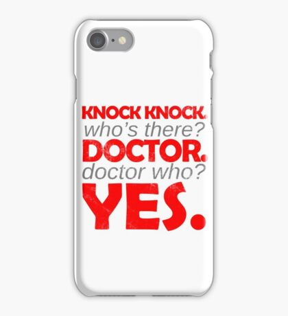 Knock knock. Doctor Who. iPhone Case/Skin
