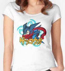greninja pokemon Women's Fitted Scoop T-Shirt
