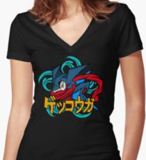 greninja pokemon Women's Fitted V-Neck T-Shirt