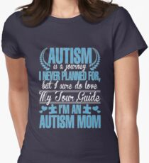 I'm an autism mom t-shirt Womens Fitted T-Shirt