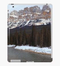 Castle mountain view iPad Case/Skin