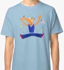 Celebration graduation fox jumping for joy Classic T-Shirt
