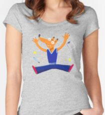 Celebration graduation fox jumping for joy Women's Fitted Scoop T-Shirt