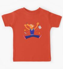 Celebration graduation fox jumping for joy Kids Clothes