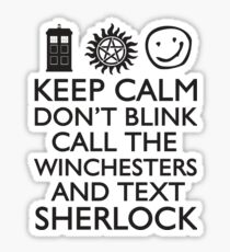 SUPERWHOLOCK SUPERNATURAL DOCTOR WHO SHERLOCK Sticker