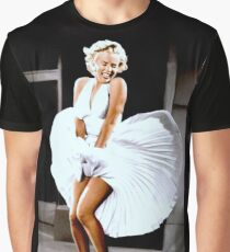 MARILYN MONROE: Scene of her Skirt Blowing Up Print Graphic T-Shirt