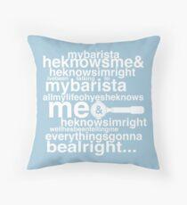 Barista Genesis Throw Pillow