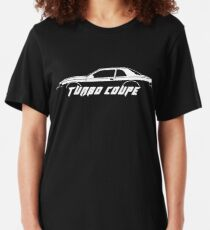 TURBO COUPE silhouette Turbo coupe 9th gen (1988) T-bird Slim Fit T-Shirt