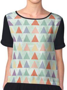 Colorful Geometric Pattern Chiffon Top