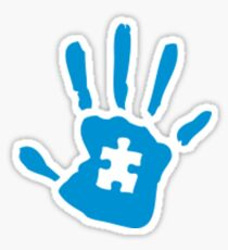 Autism hand autism awareness Sticker