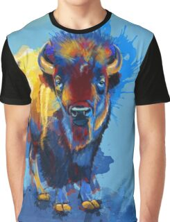 On the Plain - Bison painting Graphic T-Shirt