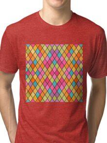 Colorful Geometric Background Tri-blend T-Shirt