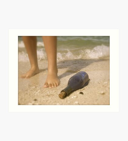 Feet in the Sea Art Print