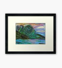 Bora Bora Mountains Framed Print