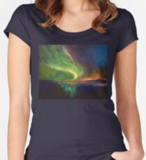 Aurora Borealis Women's Fitted Scoop T-Shirt