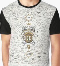 World Beer Chart Graphic T-Shirt