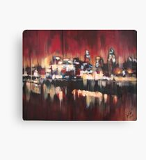 Red Sky Over London Canvas Print