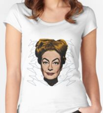 Joan Crawford- No Wire Hangers! Women's Fitted Scoop T-Shirt