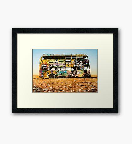 Outback Art - The Bus, Oodnadatta Track Framed Print