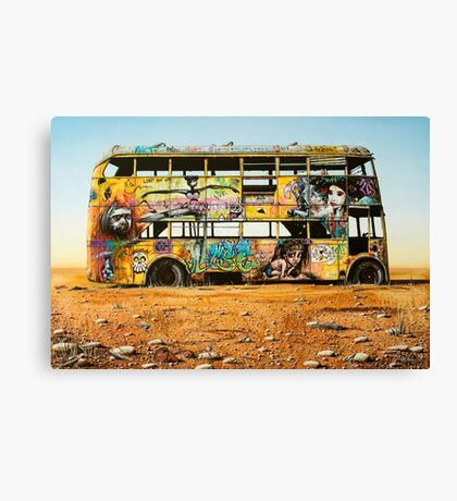 Outback Art - The Bus, Oodnadatta Track Canvas Print