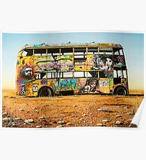 Outback Art - The Bus, Oodnadatta Track Poster