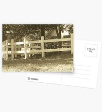 white fence Postcards