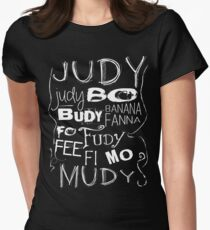 JUDY - The name game Remake White version Women's Fitted T-Shirt