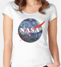 NASA starry night Women's Fitted Scoop T-Shirt