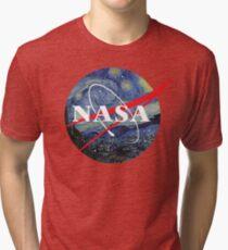 NASA starry night Tri-blend T-Shirt