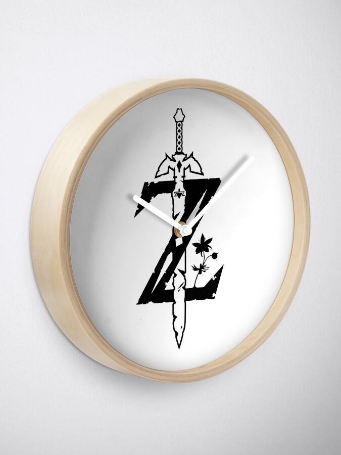 Zelda BOTW Z Logo Black Initial | Clock