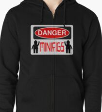 Danger Minifigs Sign Zipped Hoodie