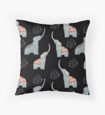 Abstract pattern with elephants 1 Throw Pillow