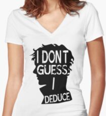 I Dont Guess Women's Fitted V-Neck T-Shirt