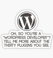 Wordpress Developer Sticker