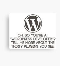 Wordpress Developer Canvas Print