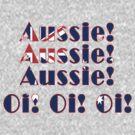 Aussie Oi! Flag T-Shirt by deanworld