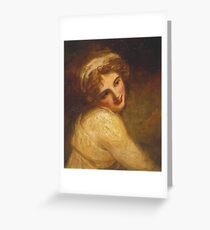 George Romney    Lady Hamilton (as a Figure in 'Fortune Telling'),  Greeting Card