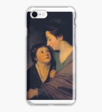 George Romney    Mrs Richard Cumberland and her Son Charles iPhone Case/Skin