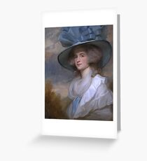 George Romney    Mrs Robert Trotter of Bush Greeting Card