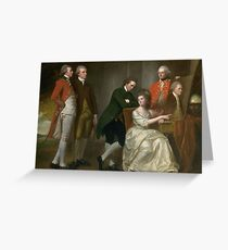 George Romney The Beaumont Family Greeting Card