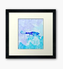 Abstract Chameleon Reptile Framed Print