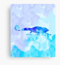 Abstract Chameleon Reptile Canvas Print
