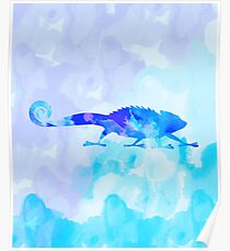 Abstract Chameleon Reptile Poster