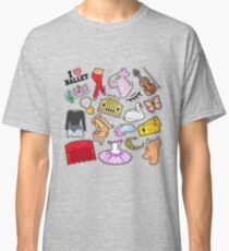 Ballet Stickers, Badges, Patches Set with Theater Elements. Vector Doodle Classic T-Shirt