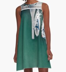 Warmth of the ocean A-Line Dress
