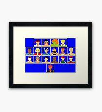 Select Your Character - Super Street Fighter 2 Turbo Framed Print