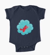 Cute cloud with airplane. One Piece - Short Sleeve