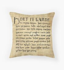 Beowulf Lines 1-11 Throw Pillow