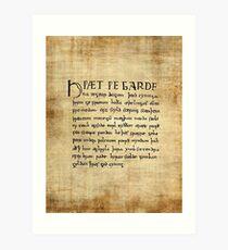 Beowulf Lines 1-11 Art Print